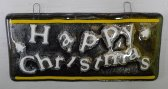 Christmas message black gold