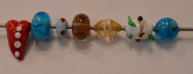 Lampwork hearts day